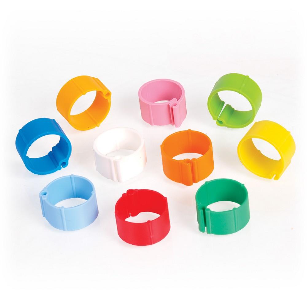 Kroužky pro slepice mix barev