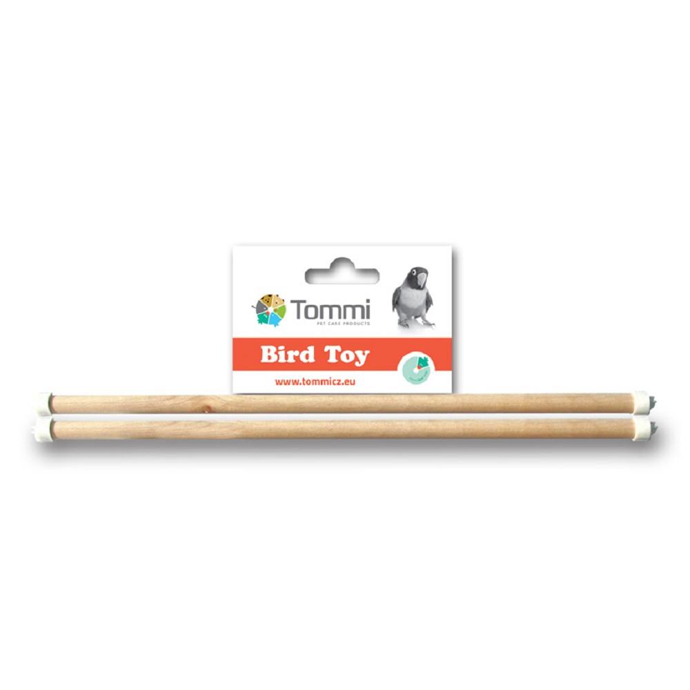 Dřevěné bidýlko pro exoty, 2 ks, 30 cm