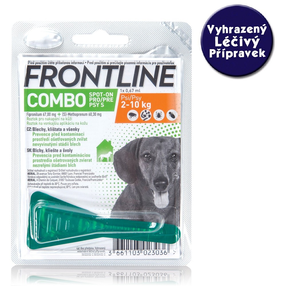Frontline Combo spot-on dog S do 10 kg - VLP