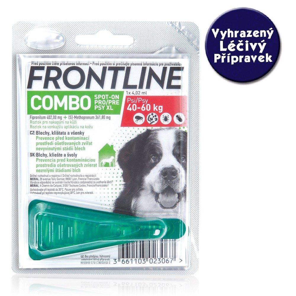 Frontline Combo spot-on dog XL nad 40 kg- VLP