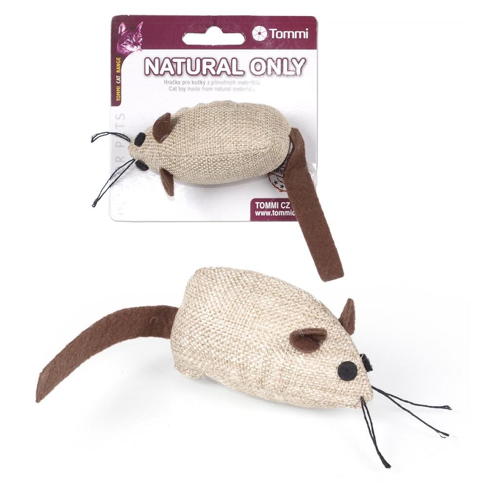Natural Only - myška hnědá s hnědým ocáskem, 8cm