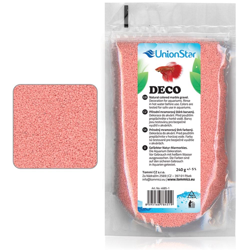Betta akvarijní písek DECO růžový 1 - 1,5mm, 240g