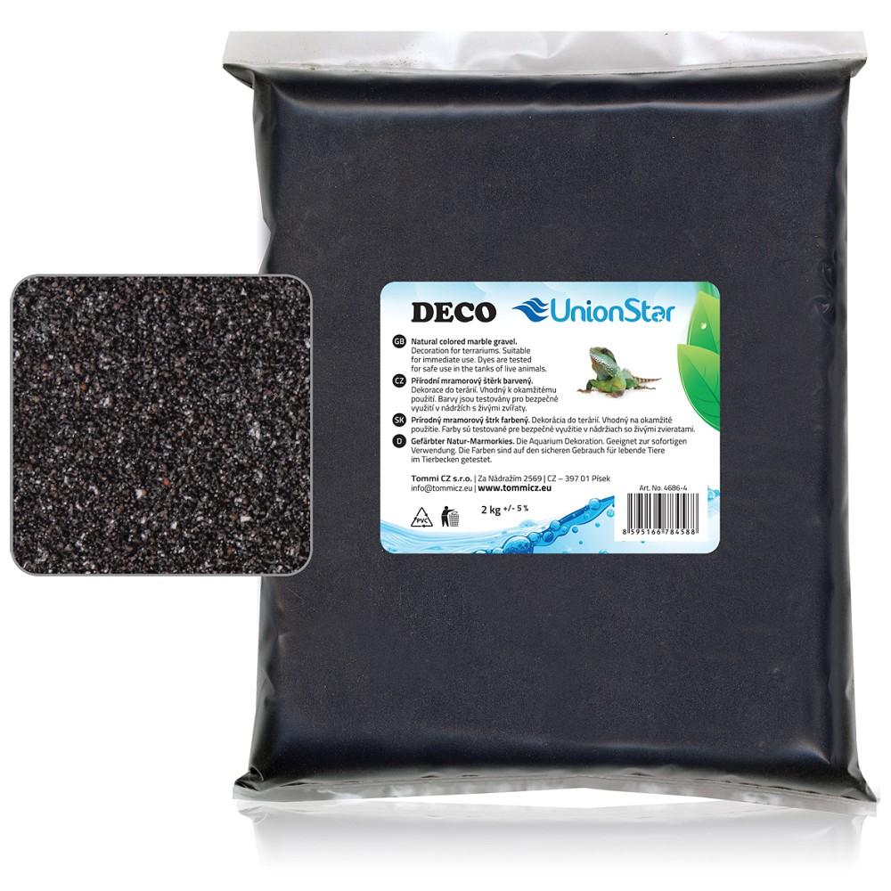 Terarijní písek černý 2kg DECO