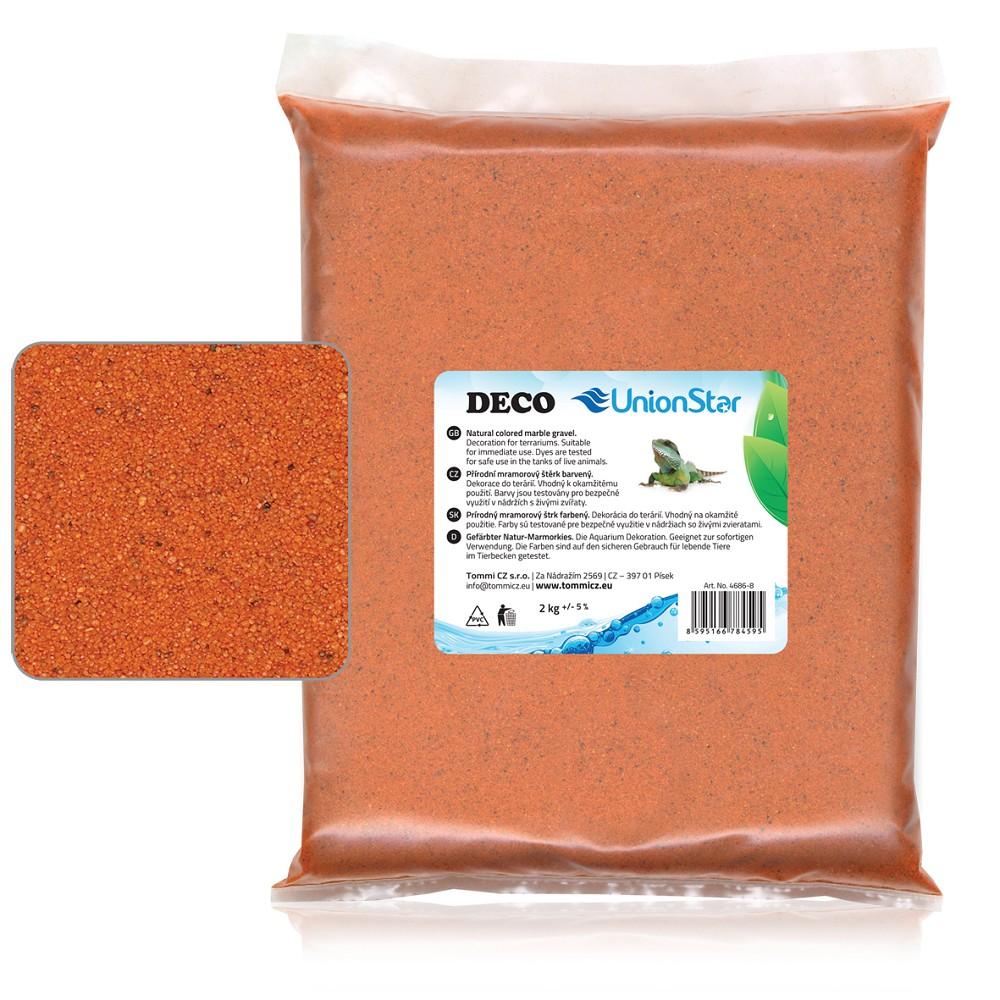 Terarijní písek oranžový 2kg DECO