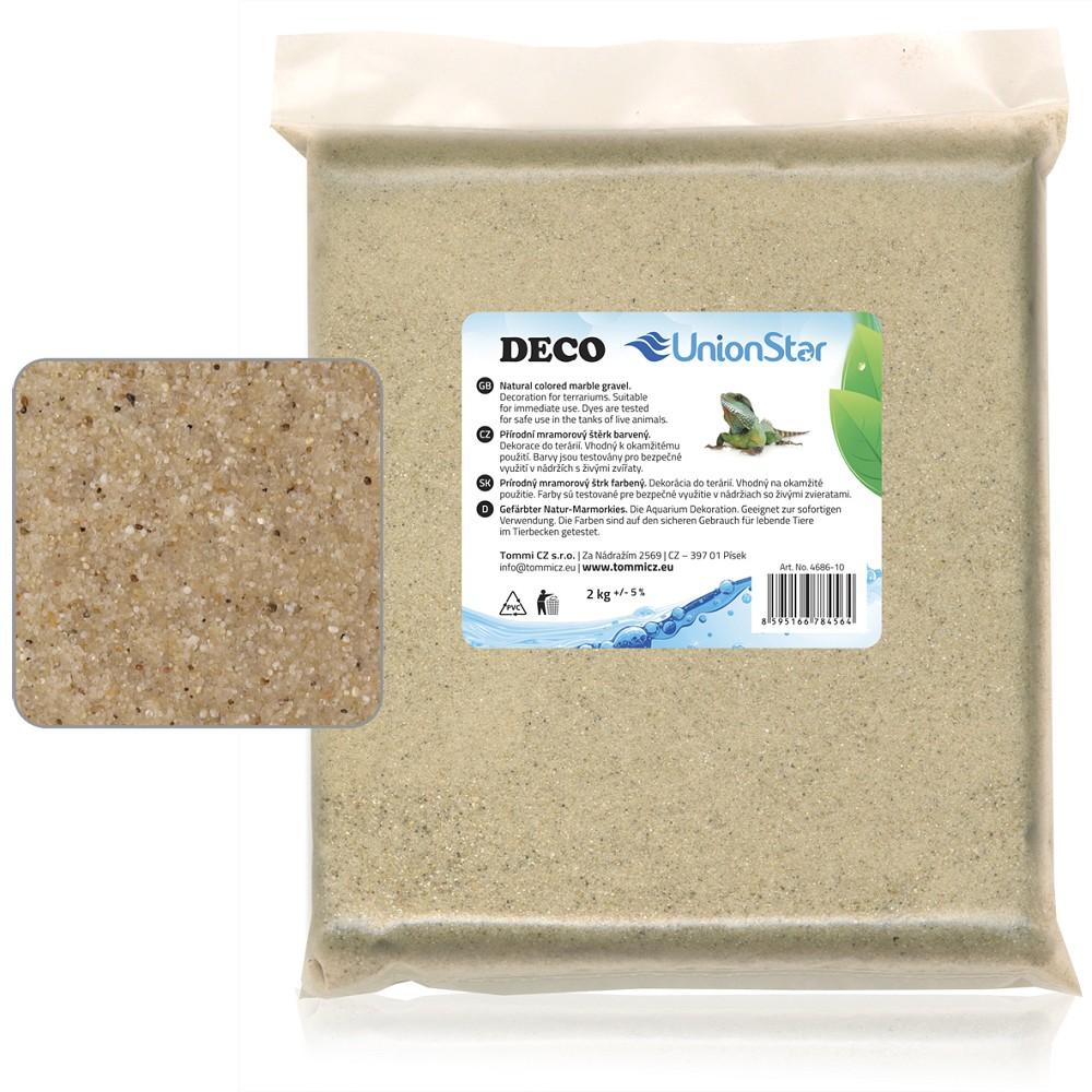 Terarijní písek přírodní 2kg DECO