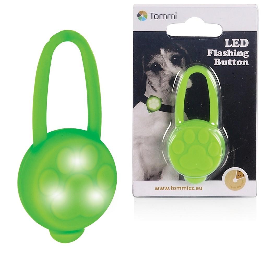 LED přívěsek na obojek silikonový/ zelený