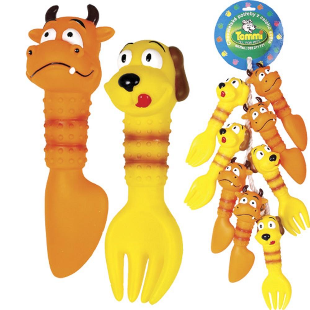 Příbory - sada hraček na šňůře, 20 cm, 12 ks