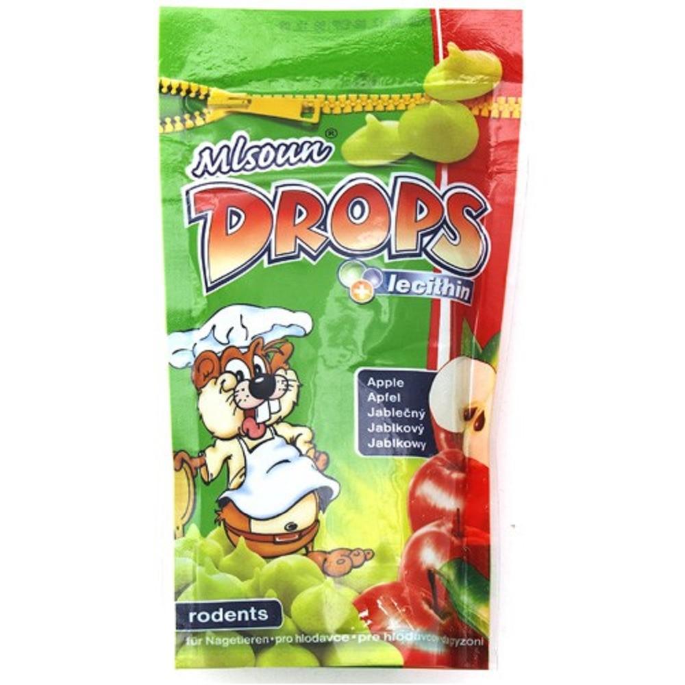 Mlsoun Drops jablečný, 75g
