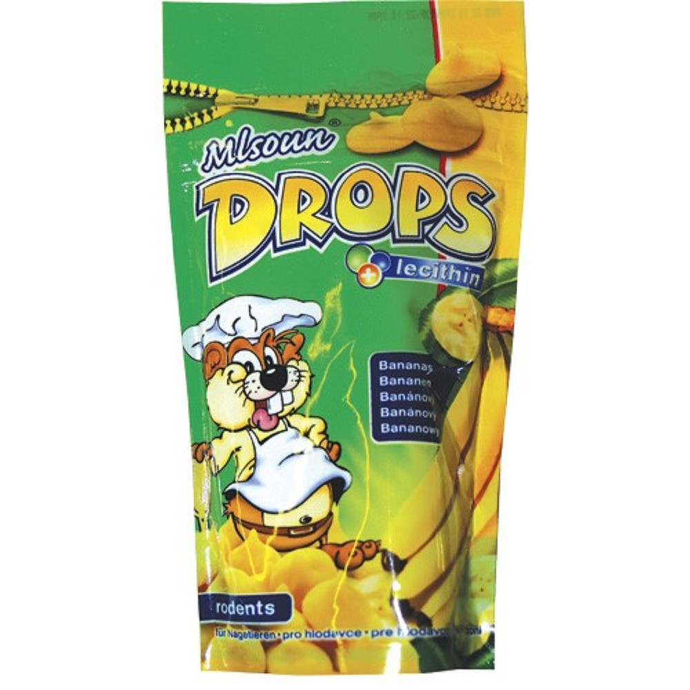 Mlsoun Drops banánový, 75g