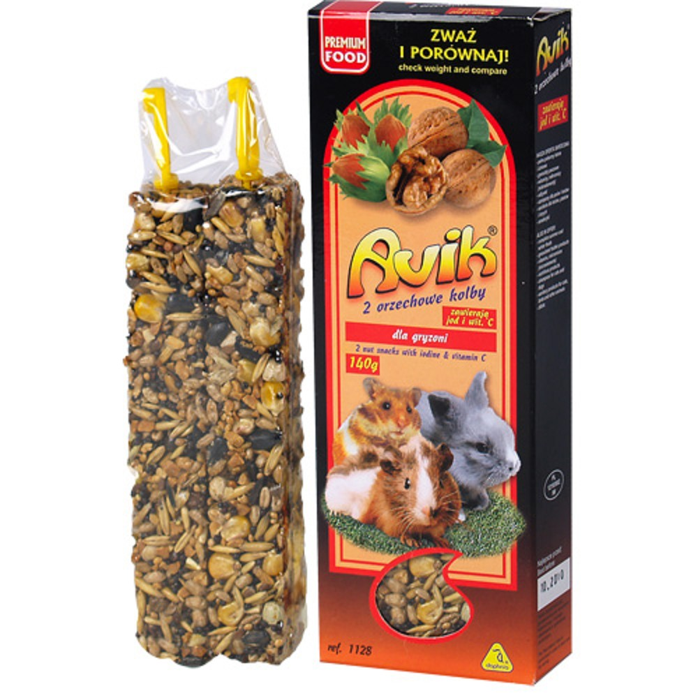 Avik tyčinka pro hlodavce - ořech, 2ks