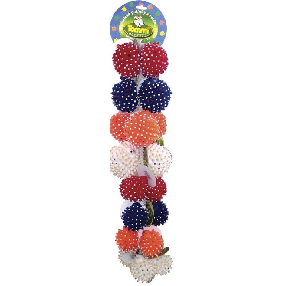 Mix malých a mini ježků na provazu, 24x 7-9cm