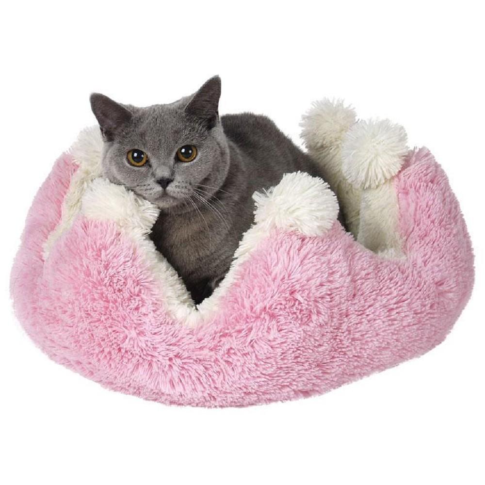 Poduška Princess růžovo/bílá