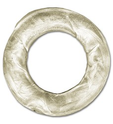 Kroužek žvýkací bílý, 7,5cm - 50ks