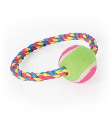 Bavlněný kruh s tenisákem, 16cm
