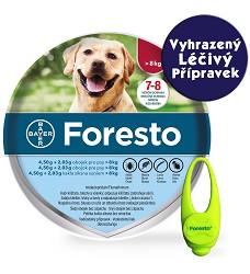 Foresto obojek pro psy, 70cm  - VLP + svítící přívěšek GRÁTIS
