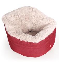 Pelíšek Muffy červeno/béžový