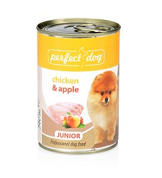Perfect Dog Junior Chicken&Apple(kuře&jablka) 400g