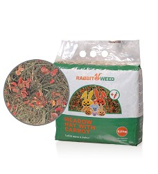 Rabbit Weed seno luční s mrkví, 4x 0,6kg, cena za 1ks