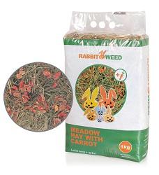 Rabbit Weed seno luční s mrkví, 4x 1kg, cena za 1ks