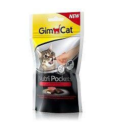 GIMCAT Nutri Pockets hovězí a malt-soft pasta 60g
