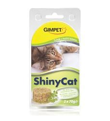ShinyCat tuňák+koč.tráva (2x70g)