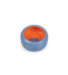Keramická miska pro hlodavce modro/oranžová, tlapka