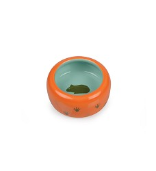 Keramická miska pro hlodavce oranž./tyrkys., tlapka