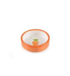 Keramická miska pro křečky oranžovo/bílá, mrkvička