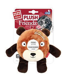GiGwi Plush Friendz medvěd s gumovým kroužkem
