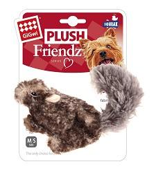 GiGwi Plush Friendz plyšová veverka šedá