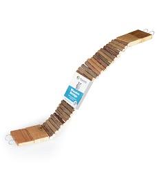 Dřevěný můstek dlouhý, 7x60cm (kulatá dřívka)