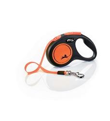 flexi New Neon S pásek 5m/15kg oranžová