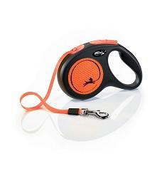 flexi New Neon M pásek 5m/25kg oranžová