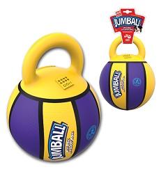 GiGwi Jumball Basketball míč s rukojetí žluto-fialový, 20cm
