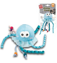 GiGwi Shining Friendz medúza, LED a catnip
