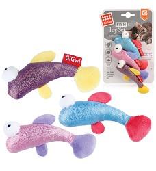 GiGwi Fish Toy Set 3 různé druhy, 3ks/ karta
