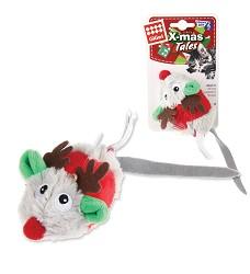 GiGwi Melody Chaser - vánoční myška se zvuk.čipem