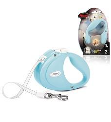 flexi Puppy S pásek, 2m/12kg, světle modrá
